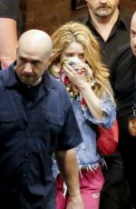 SHAKIRA Leaves Her Concert in Barcelona 07/07/2018