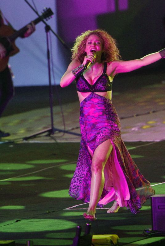 SHAKIRA Performs at 2018 Central American and Caribbean Games Opening in Barranquilla 07/19/2018