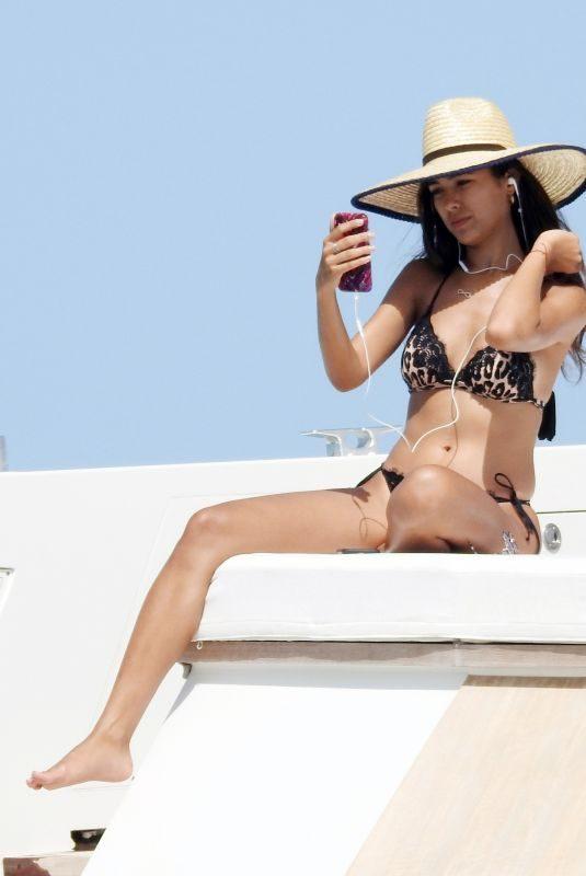 SHARON FONSECA in Bikini at a Boat in Formentera 07/17/2018