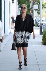 SHARON STONE Out Shopping in Beverly Hills 07/19/2018
