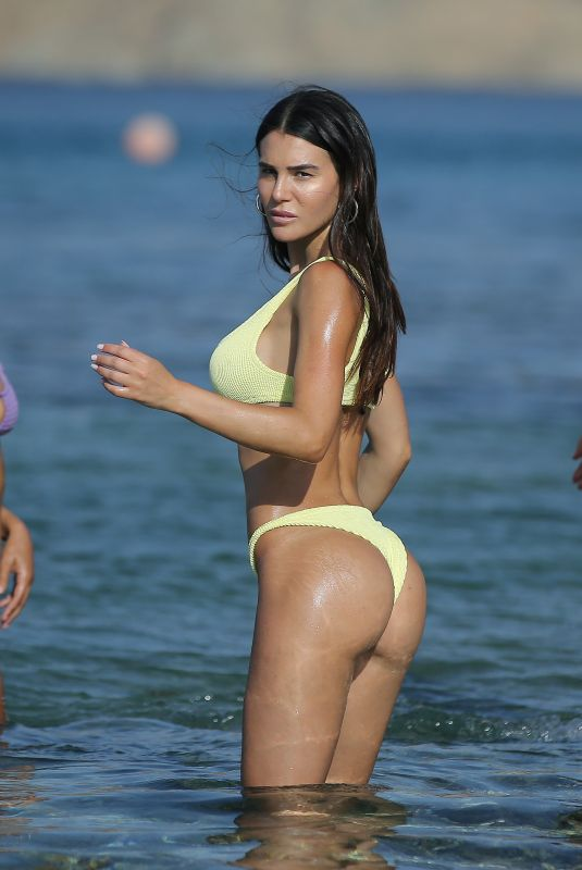 SILVIA CARUSO in Bikini on the Beach in Mykonos 07/16/2018