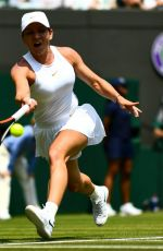 SIMONA HALEP at Wimbledon Tennis Championships in London 07/07/2018