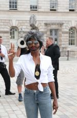 SINITTA Arrives to X Factor Launch in London 07/17/2018