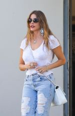 SOFIA VERGARA in Ripped Jeans Out in Beverly Hills 07/02/2018