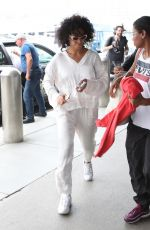 SOLANGE KNOWLES at LAX Airport in Los Angeles 07/26/2018