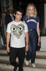 SOPHIE TURNER and Joe Jonas at 34 Mayfair in London 07/14/2018