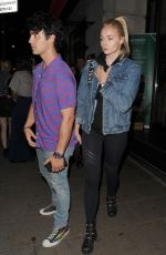 SOPHIE TURNER and Joe Jonas at Novikov Restaurant in London 07/17/2018