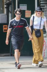 SOPHIE TURNER and Joe Jonas on Lafayette Street in New York 07/28/2018