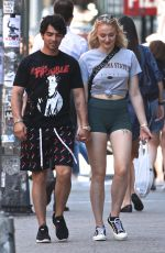 SOPHIE TURNER and Joe Jonas Out and About in New York 07/09/2018