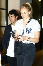 SOPHIE TURNER and Joe Jonas Out for Dinner in New York 07/25/2018