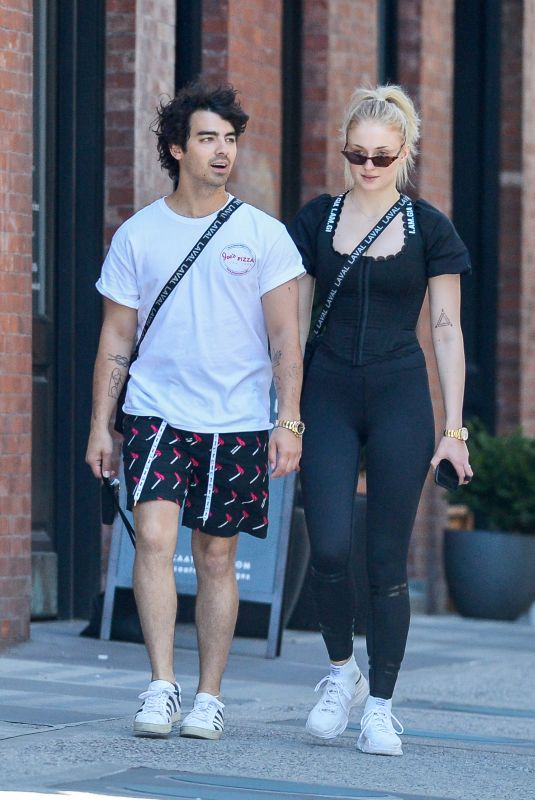 SOPHIE TURNER and Joe Jonas Out in New York 07/19/2018