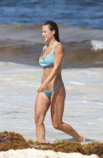 STEFANIE KNIGHT in Bikini on the Beach in Tulum 07/22/2018