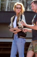 STELLA MAXWELL Leaves Cafe Gratitude in Los Angeles 07/23/2018
