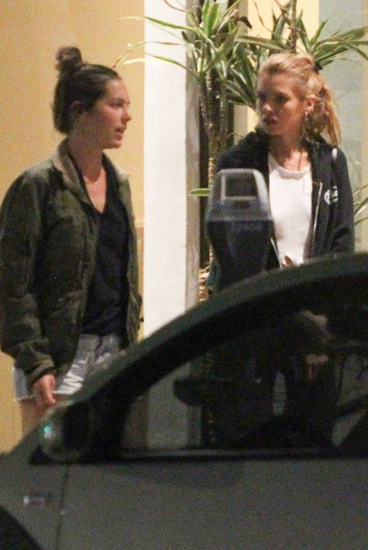 STELLA MAXWELL Out for Dinner with Friends in Pasadena 07/03/2018