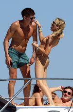 STEPHANIE PRATT in Bikini on a Yacht in Formentera 07/28/2018