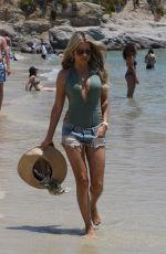 SYLVIE MEIS Out on the Beach in Mykonos 07/07/2018