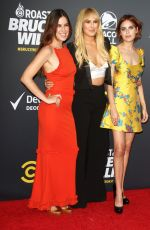 TALLULAH, RUMER and SCOUT WILLIS at Comedy Central Roast of Bruce Willis in Los Angeles 07/14/2018