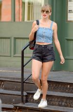 TAYLOR SWIFT in Shorts Heading to a Recording Studio in New York 07/18/2018