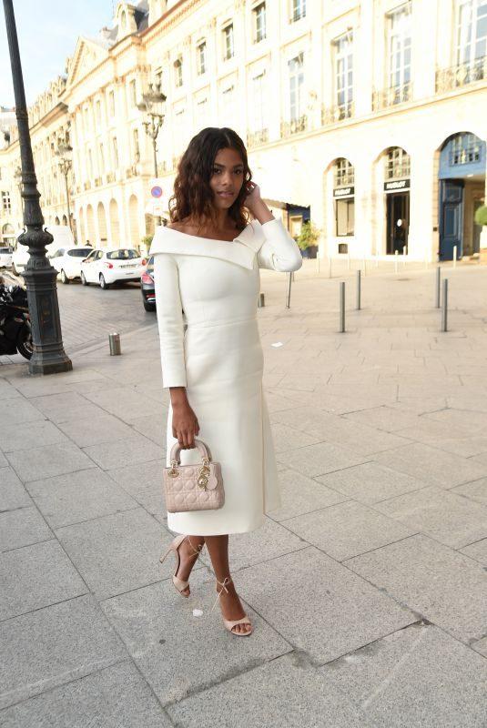 TINA KUNAKEY at Dior Dinner at Place Vendome in Paris 07/02/2018