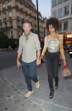 TINA KUNAKEY at Jean-Paul Gaultier Scandal Discotheque Party in Paris 07/04/2018