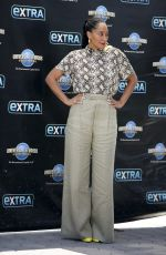 TRACEE ELLIS ROSS on the Set of Extra in Los Angeles 07/19/2018
