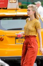 VANESSA KIRBY on the Set of Adam Leon Untitled Movie in New York 07/03/2018