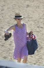 VANESSA PARADIS in Swimsuit at a Beach in Biarritz 07/08/2018
