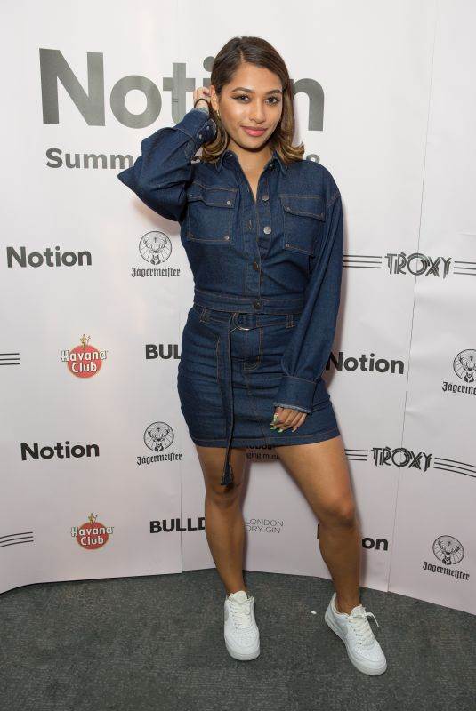 VANESSA WHITE at Notion Magazine Summer Party 2018 in London 07/27/2018