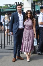 VICKY PATTISON and John Noble Arrives at Wimbledon Tennis Tournament in London 07/09/2018