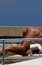 VICTORIA SLIVSTEDT in Bikini at a Boat in the Bay of Saint Tropez 07/08/2018