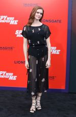 VIRGINIA GARDNER at The Spy Who Dumped Me Premiere in Los Angeles 07/25/2018