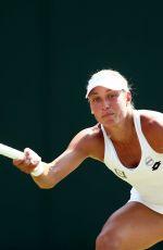 YANINA WICKMAYER at Wimbledon Tennis Championships in London 07/07/2018