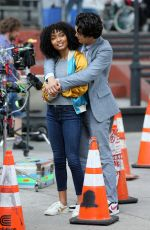YARA SHAHIDI on the Set of The Sun Is Also A Star in New York 07/16/2018
