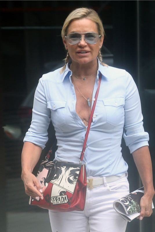 YOLANDA HADID Out in New York 07/17/2018