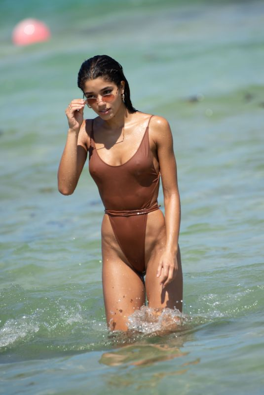 YOVANNA VENTURA in Swimsuit on the Beach in Miami 07/14/2018