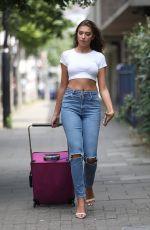 ZARA MCDERMOTT in Tight Jeans Out in London 07/04/2018