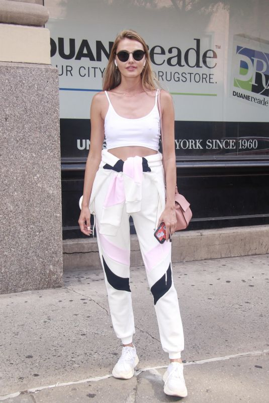 ALINA BAIKOVA Out and About in New York 08/21/2018