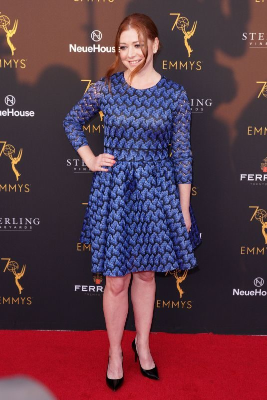 ALYSON HANNIGAN at Television Academy's Performers Peer Group Celebration in Los Angeles 08/20/2018