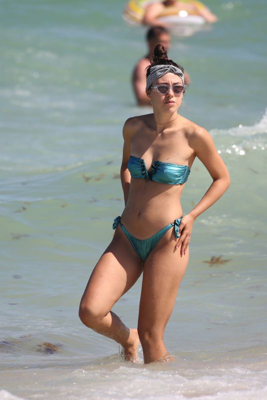 AURORA RAMAZZOTTI in Bikini at a Beach in Miami 08/02/2018