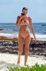 BREGJE HEINEN in Bikini on the Beach in Tulum 08/29/2018