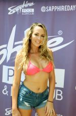 BRETT ROSSI Hosts Sapphire Dayclub Pool Party in Las Vegas 08/11/2018