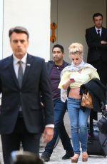 BRITNEY SPEARS Leaves Her Hotel in Paris 08/28/2018