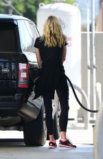 BROOKE BURNS at a Gas Station in Los Angeles 08/19/2018