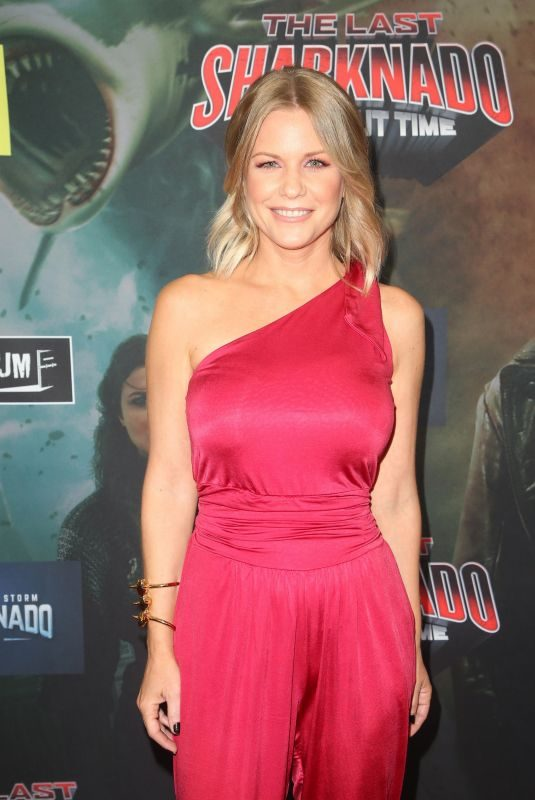 CARRIE KEAGAN at The Last Sharknado: It's About Time Premiere in Los Angeles 08/19/2018