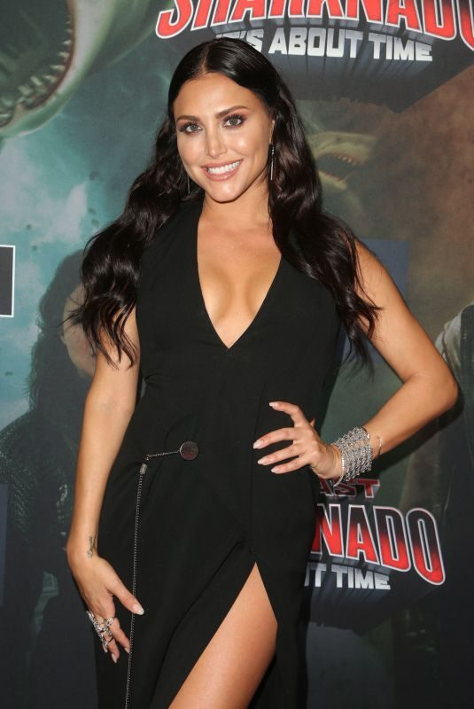 CASSIE SCERBO at The Last Sharknado: It's About Time Premiere in Los Angeles 08/19/2018