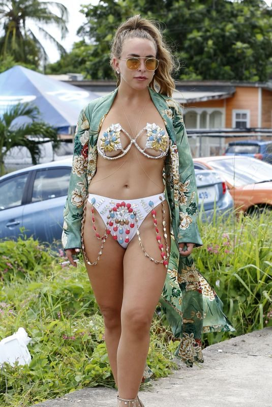 CHLOE GREEN in Bikini at Carnival in Barbados 08/07/2018