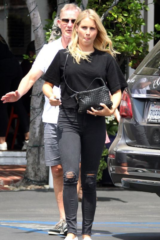 CLAIRE HOLT Out for Lunch in West Hollywood 08/20/2018