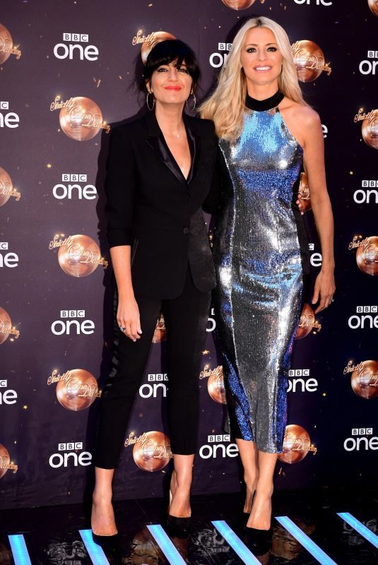 CLAUDIA WINKLEMAN and TESS DALY at Strictly Come Dancing Launch in London 08/27/2018
