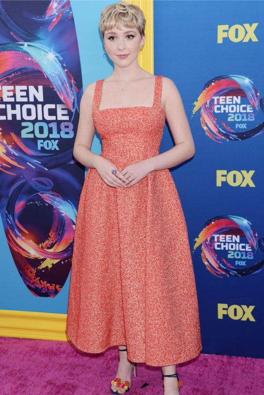 COZI ZUEHLSDORFF at 2018 Teen Choice Awards in Beverly Hills 08/12/2018
