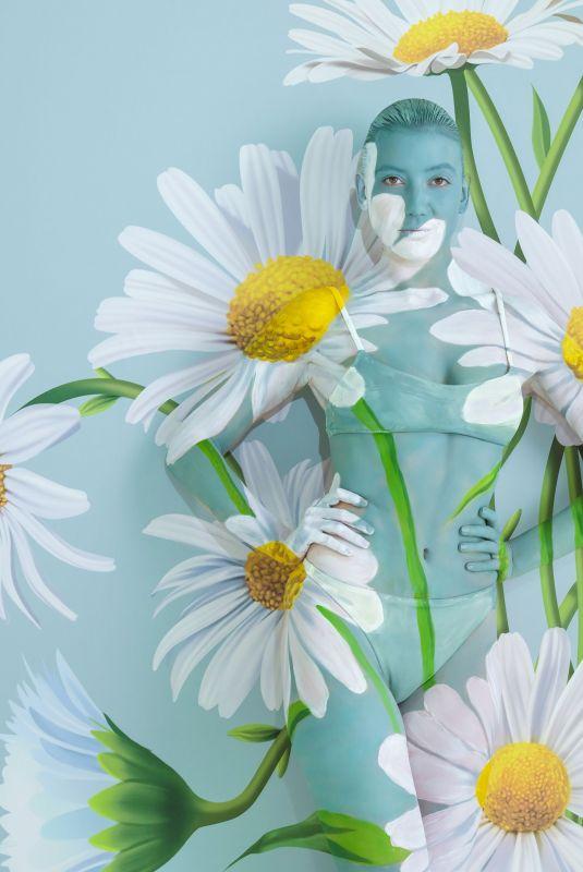 DAISY LOWE Painted by Body Paint Artist Carolyn Roper, July 2018